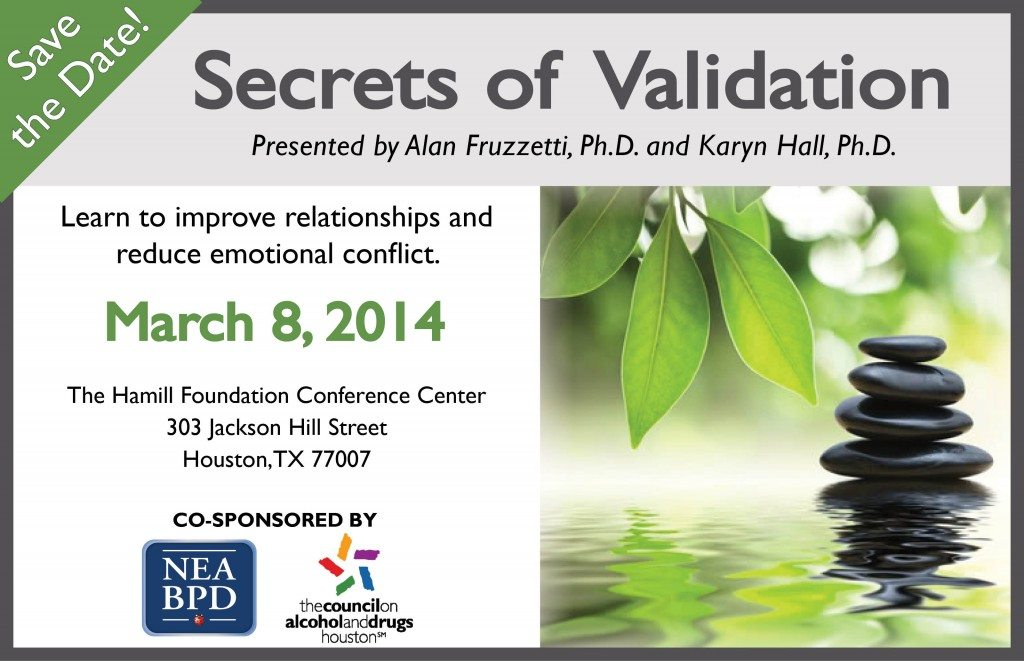 NEABPD Validation Workshop Save the Date March 8, 2014