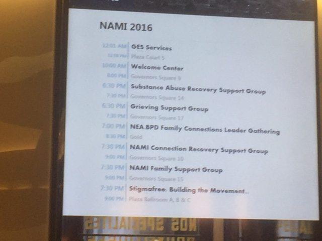 NAMI National Convention, Denver Colorado  Family Connections
